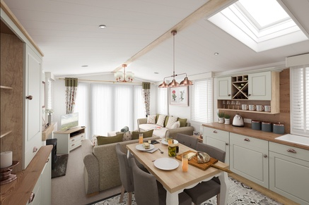 Swift Vendee Lodge Kitchen to lounge