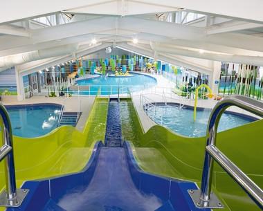 Fun indoor pools  at Thornwick Bay