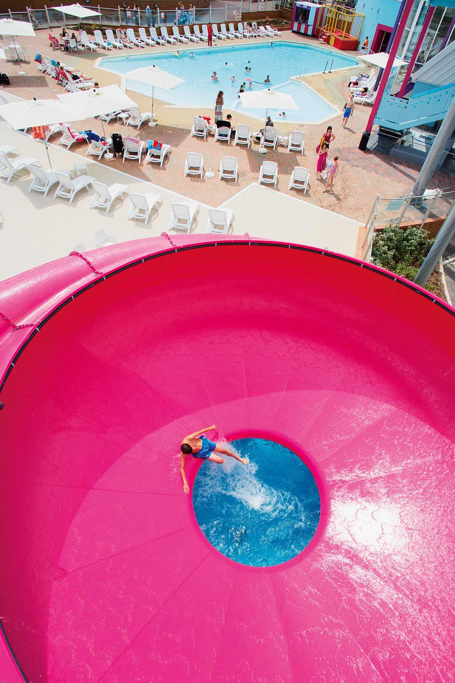 Space bowl flume, indoor & outdoor pools at Combe Haven