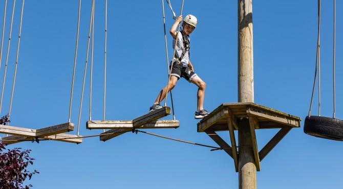 Aerial Adventure Course at Devon Cliffs