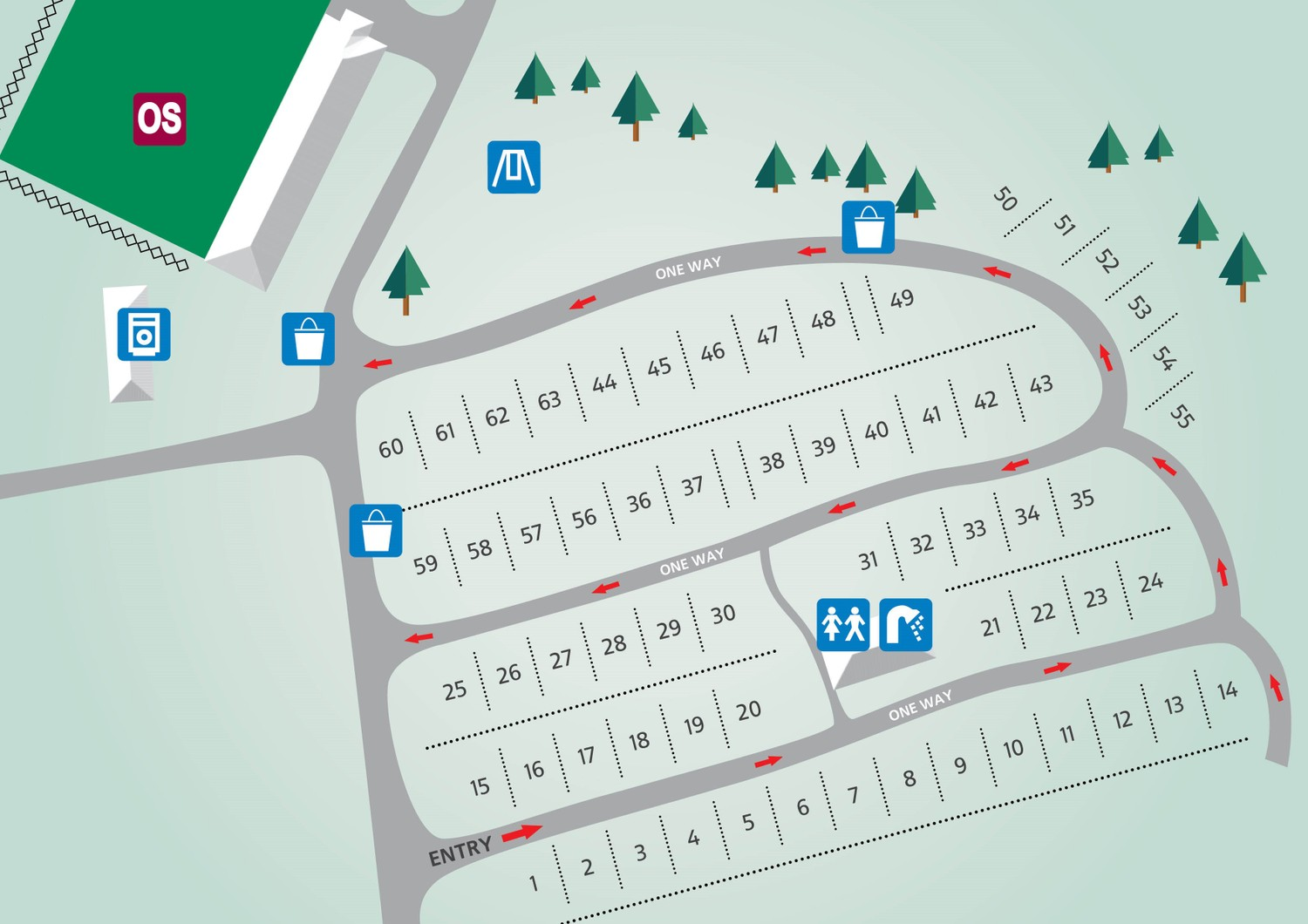 The Orchards Essex Touring Park Map