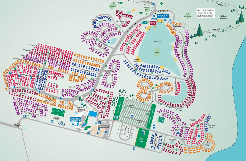 Lakeland, Lake District park map