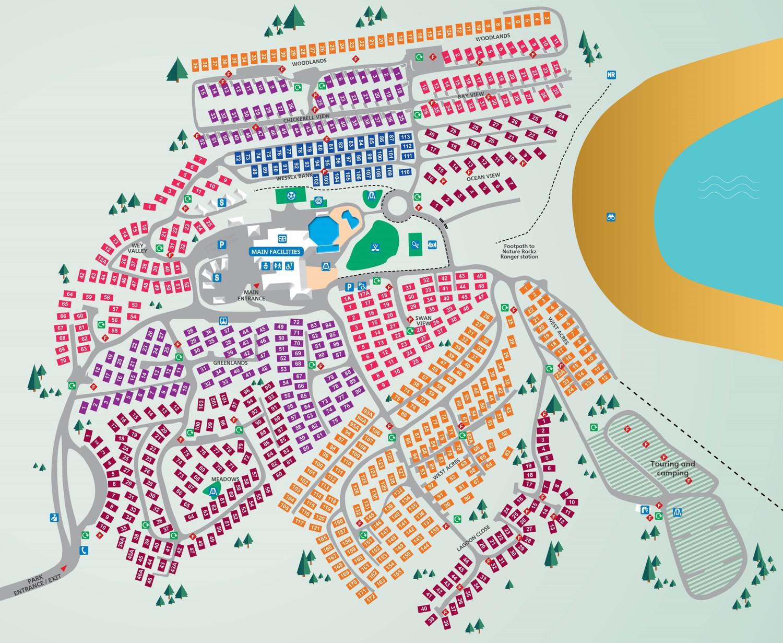 Littlesea, Dorset park map
