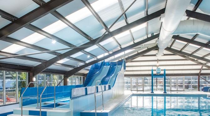 Indoor and outdoor pool at Wild Duck
