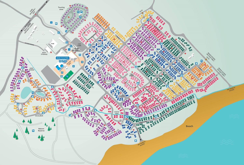 Greenacres, North Wales park map