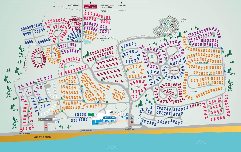 Seton Sands, Scotland park map