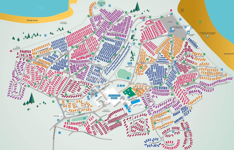 Devon Cliffs, Devon park map
