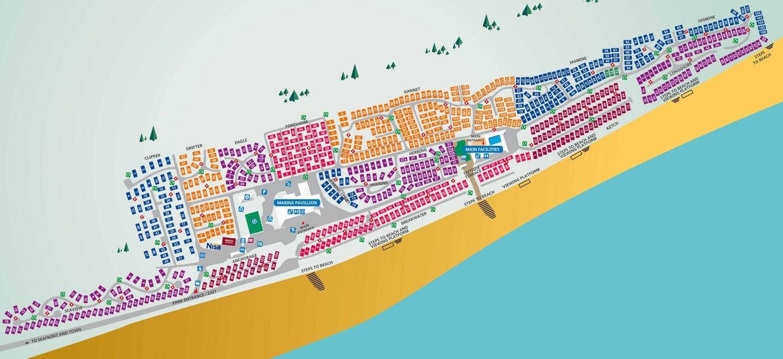 Seashore, Norfolk park map
