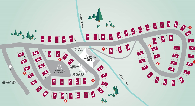 Hafan y Môr Touring Park Map