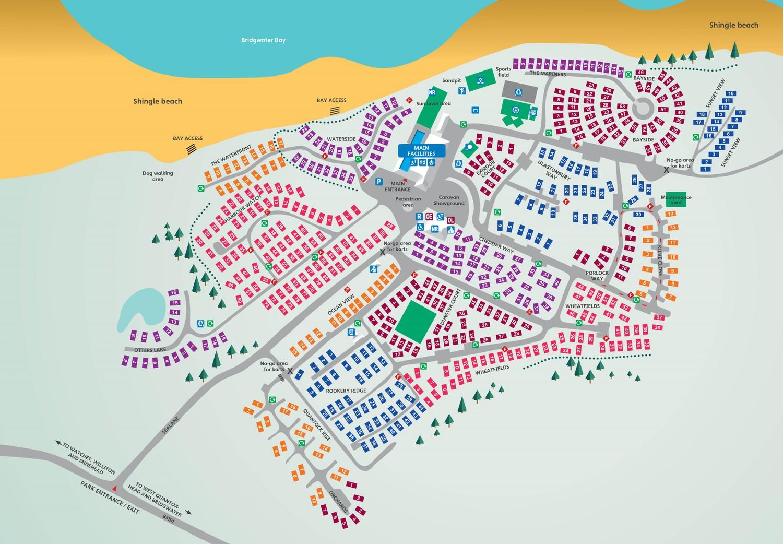 Doniford Bay, Somerset park map