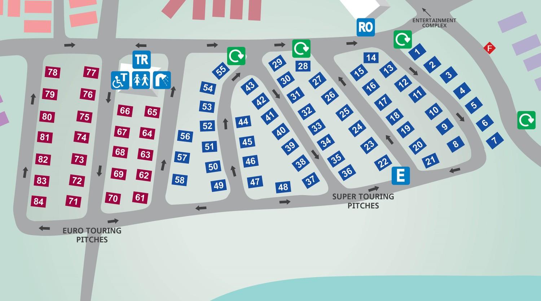 Marton Mere Blackpool Touring Park Map