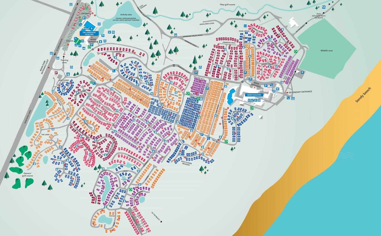 Primrose Valley, Yorkshire park map
