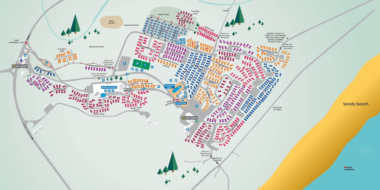 Kiln Park, South Wales park map