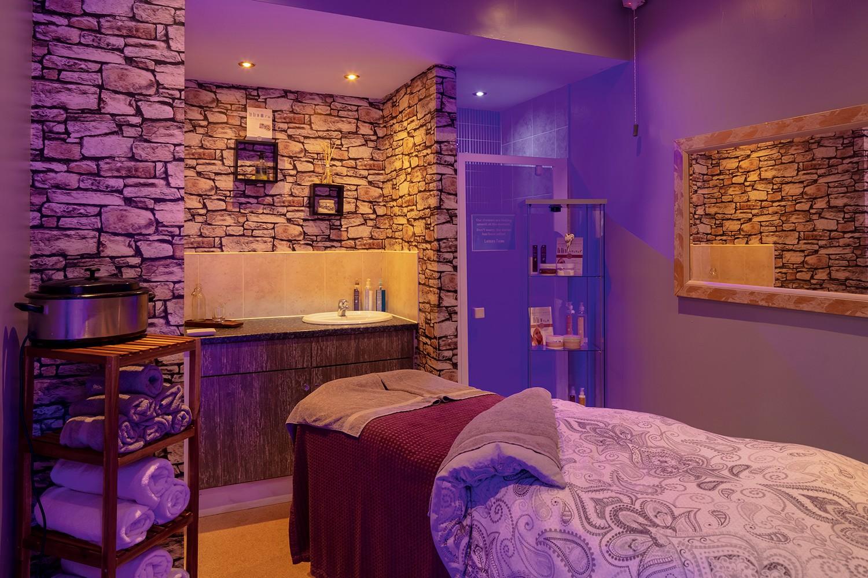 Spa treatment room at Haggerston Castle