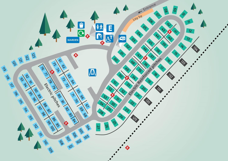 Littlesea Dorset Touring Park Map