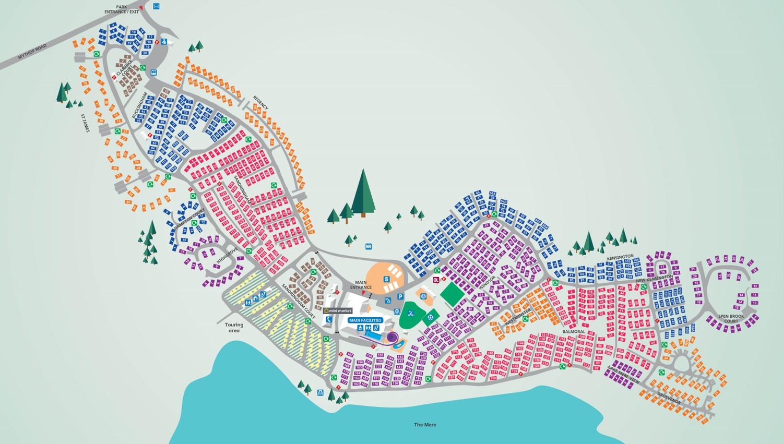 Marton Mere, Blackpool park map