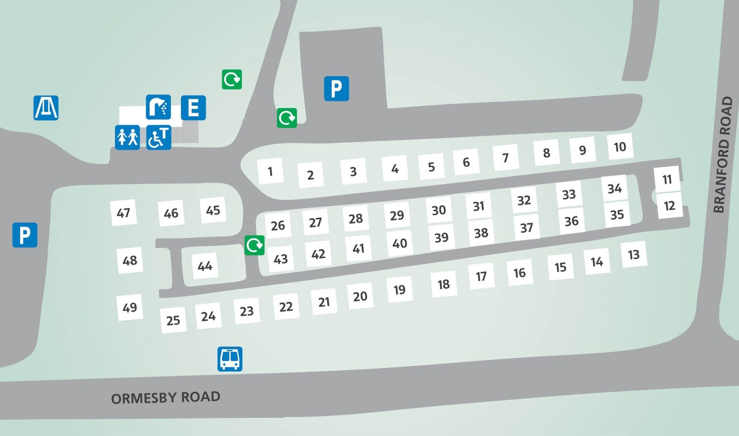 Caister-on-Sea, Norfolk touring park map