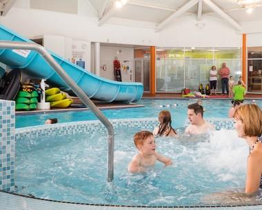 Indoor swimming pool at Cala Gran