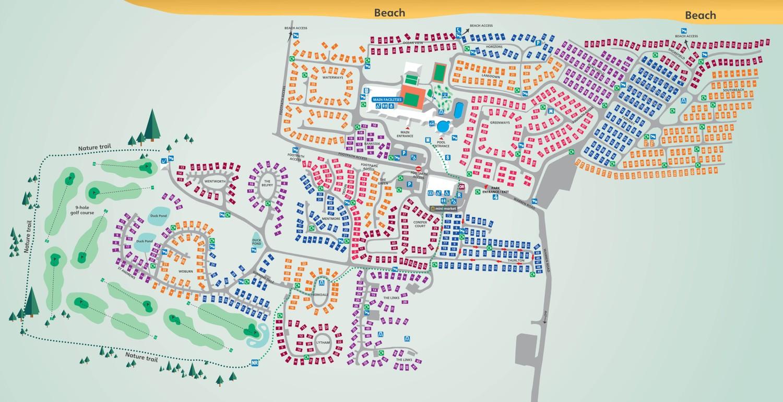 Hopton, Norfolk park map
