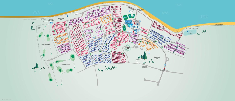 Allhallows, Kent park map