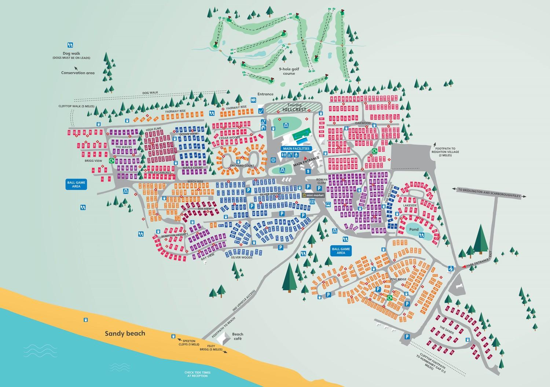 Reighton Sands, Yorkshire park map